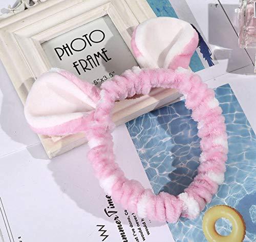 sufengshop Carino colorato elastico donne fiocco fascia per capelli moda lavaggio viso fascia ragazze testa usura fasce per capelli in corallo accessori per capelli in pile