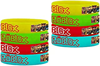 16PCS Rubber Bracelets for Roblox Video Sandbox Game Party Supplies, Favor for Roblox Video Sandbox Game Birthday Party wi...
