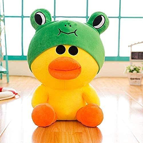 NC86 Juguete de Felpa 35Cm Pato Amarillo Juguete de Peluche Muñeca de Animal Regalo de niña Linda Muñeca de Rana Verde de Dibujos Animados Pollo Pollo Pato Amarillo Muñecas Adornos