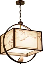 Light-S Chinese Chandelier Living Room Simple Pendant Light Creative Iron Ceiling Light Simple Fabric Hang Lamp