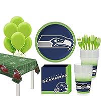 Party City スーパーフットボールパーティー用品 18人用 プレート、ナプキン、テーブルカバー、バルーン付き One Size
