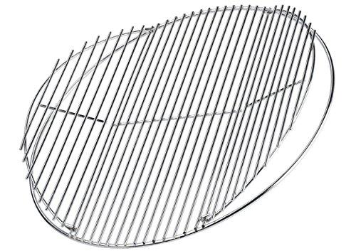 Grillrost Edelstahl Rostauflage klappbar rostfrei von Brandsseller Rund Ø 44,5 cm für Weber 47 cm geeignet mit Klappe
