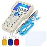 LUCINE Duplicadora RFID 125KHz / 13.56MHz Copiadora RFID Lector de tarjetas inteligentes con excelente funcionalidad ID de programador cifrado IC Hebilla compuesta