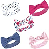 Touched by Nature Baby Girls' Organic Cotton Headbands, Garden Floral, 0-24 Months