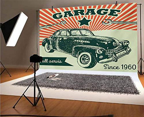 Telón de fondo de vinilo para fotografía de Cars de 12 x...