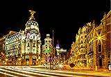 Kying Carteles de Pintura de Lienzo de Paisaje de España de Viaje de Madrid e imágenes artísticas de Pared para decoración de Sala de estar-50x75CM sin Marco