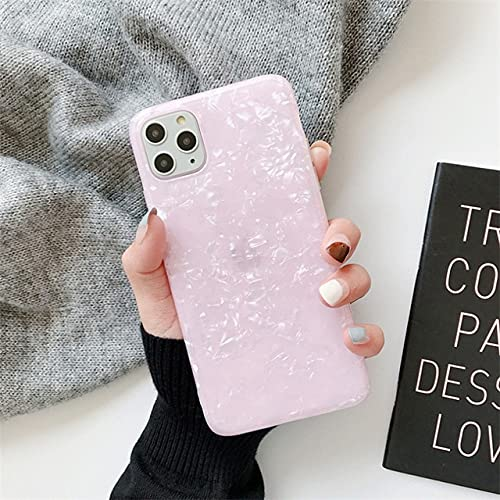 TFE Glitter Bling Conch Phone Case For iPhone 11 Pro MAX 12 Mini X XR XS MAX 6 6S 7 8 Plus Se 2020 Soft Glossy Marble Shell For iPhone 6S Pink