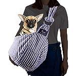 CUBY Pet Sling Carrier for Small Dogs, Cats, Puppies, Sling Backpack, Single-Shoulder Pet Bag for Travel, Adjustable Shoulder Straps 10