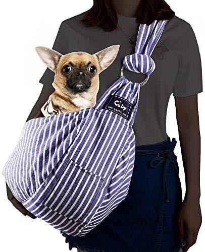 CUBY Pet Sling Carrier for Small Dogs, Cats, Puppies, Sling Backpack, Single-Shoulder Pet Bag for Travel, Adjustable Shoulder Straps 5