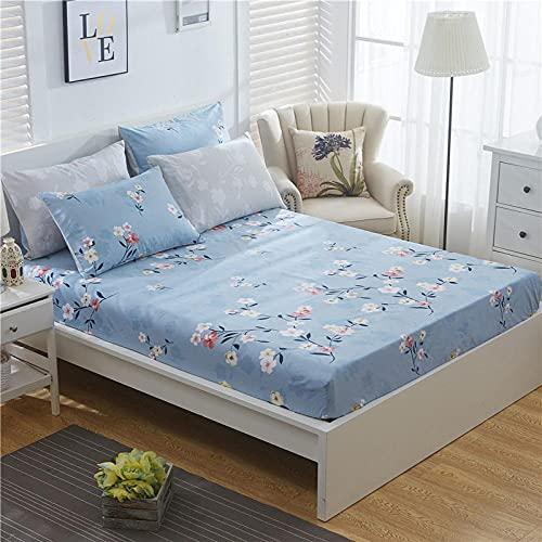XGguo Protector de colchón de Rizo algodón y Transpirable Sábana de algodón Antideslizante Comfort-6_120x200cm