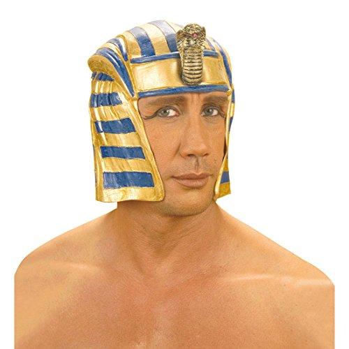 NET TOYS Ägypter Pharao Helm Latex ägyptische Kopfbedeckung Pharaonen Pharaonenhelm Fasnet Fasnacht Helme Hut