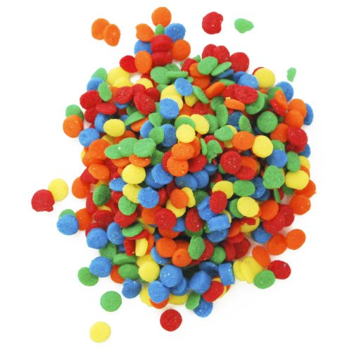 CK Products Bright Primary Colors Edible Confetti Sequins - 8 oz