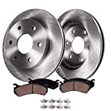 Detroit Axle - Front Brake Rotors and Ceramic Pads w/Hardware Replacement Kit for 2007-201...