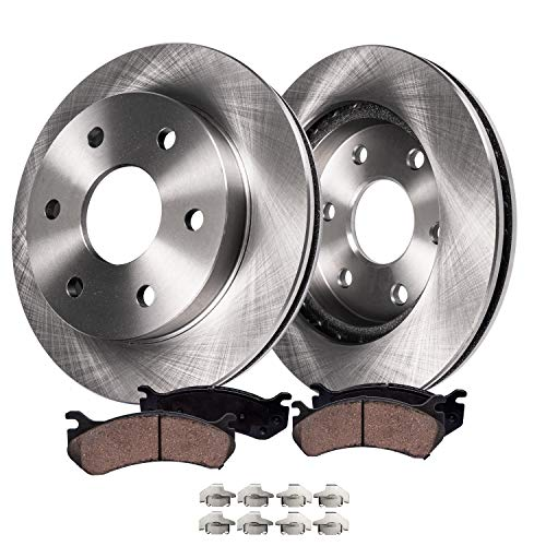 Detroit Axle - Front Brakes Replacement Kit for 2008-2019 Sierra Silverado 1500, 2007-2019 Escalade, ESV, Tahoe, Yukon - Disc Rotor, Ceramic Brake Pad