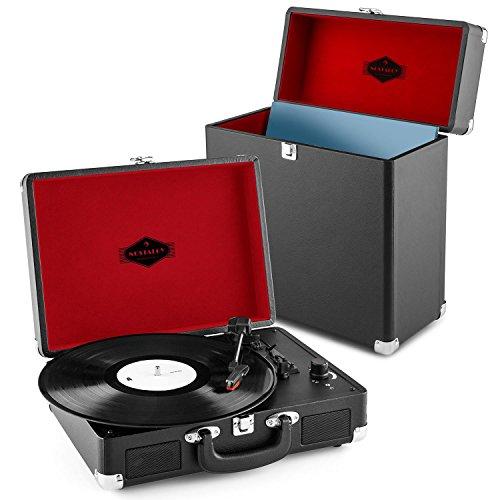 Auna Peggy Sue Record Collector Set Tocadiscos portátil Retro y Maleta vinilos...