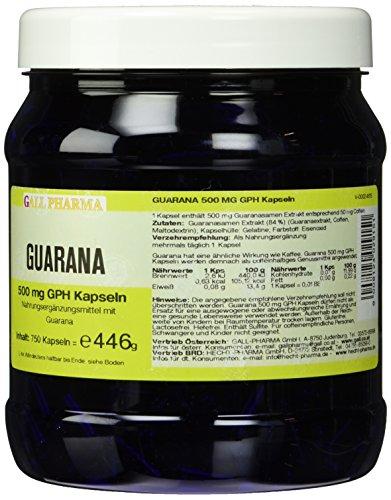 Gall Pharma Guarana 500 mg GPH Kapseln , 1er Pack (1 x 750 Stück)