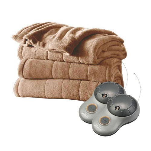 Sunbeam Plush Electric Heated Blanket, 1 Each