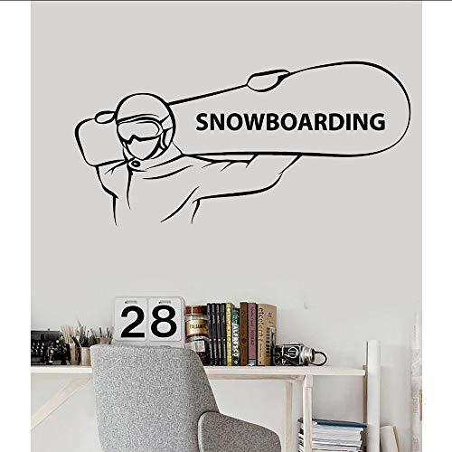 Makeyong Eenvoudige Hot Koop Vinyl Decals Snowboarden Extreme Sport Snowboarder Stickers voor Man Woonkamer Decoratie Verwijderbaar85X42Cm