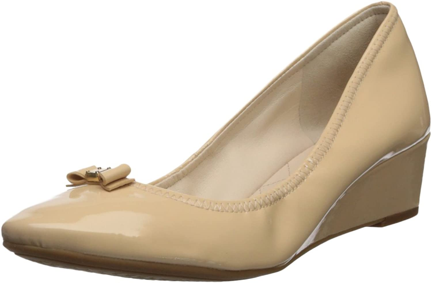 Cole Haan Womens Tali Bow Mini Wedge Pumps