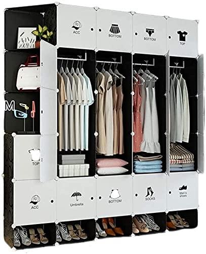 Armadio Camera da Letto Plastica Portatile Abbigliamento da Camera Ammorsi Dresser Cube Storage UOMUN (Color : A)