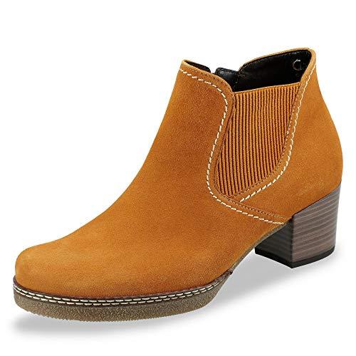 Gabor Damen Chelsea Boots 36.661, Frauen Stiefelette,Stiefel,Halbstiefel,Bootie,Schlupfstiefel,hoch,Curry (S.n/Mic.),38 EU / 5 UK