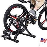 Bike Trainer Stand Bike Resistance Trainers Resistance Foldable Bicycle Exercise Stand for Mountain & Road Bikes Noise Reduction Portable Indoor Trainer Magnetic Flywheel for 24-29' Wheel Size