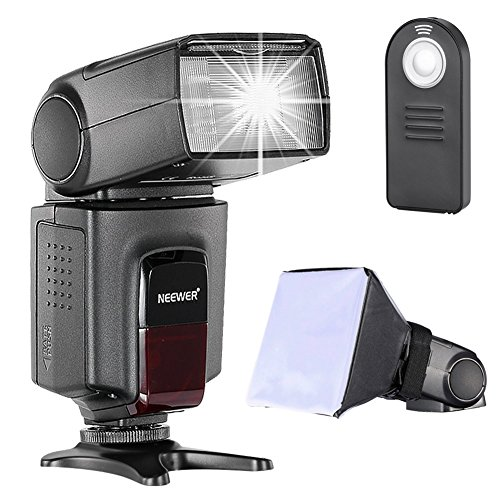 Neewer TT560 Kit Speedlite Flash con supporto Hot Shoe standard, Nero