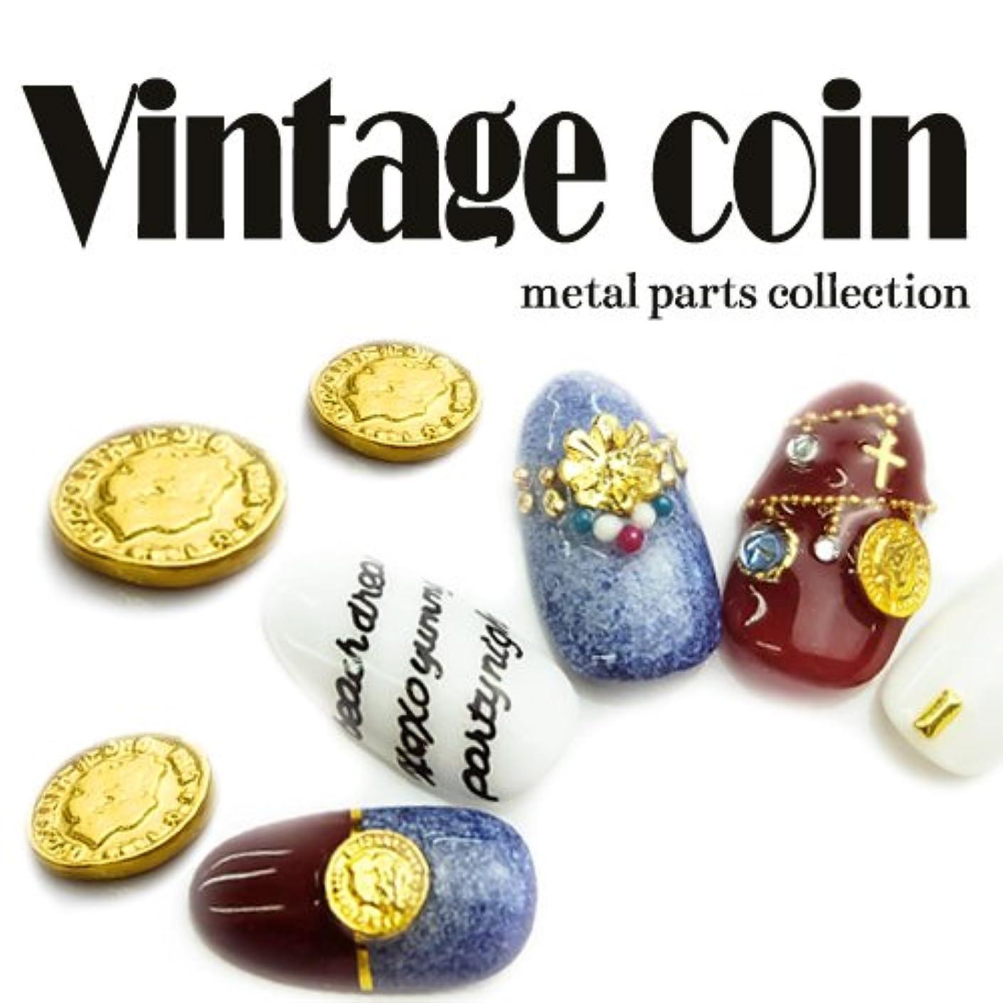 の指紋コマンド(ゴールド) 5個入 ヴィンテージコインメタルパーツ