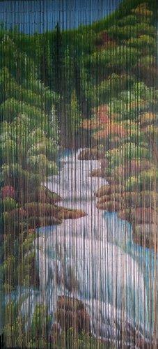 ABeadedCurtain 125 String Mountain Stream Beaded Curtain 38% More Strands Handmade with 4000 Beads (+Hanging Hardware)