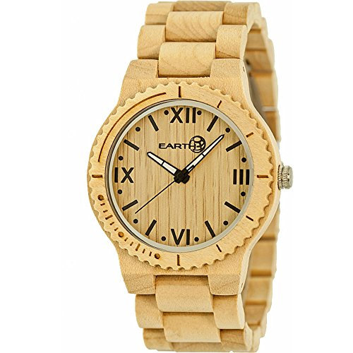 Earth Wood Watches Orologio con Movimento Giapponese Unisex Unisex Earth Bighorn 46.0 mm