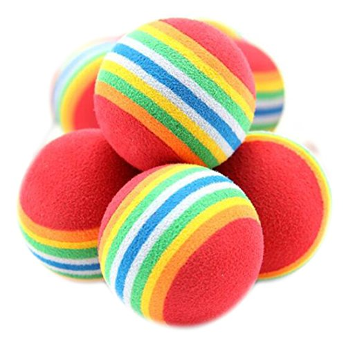 Healthy Clubs 10Pcs Funny Cute Rainbow Toy Ball Small