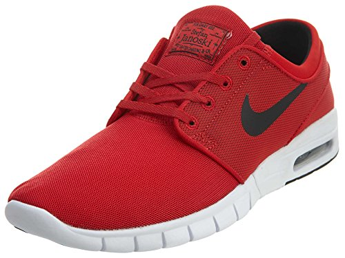 Nike Nike Herren Stefan Janoski Max Skateboardschuhe, Rot/Schwarz/Weiß (University Red/Black-White), 42 EU