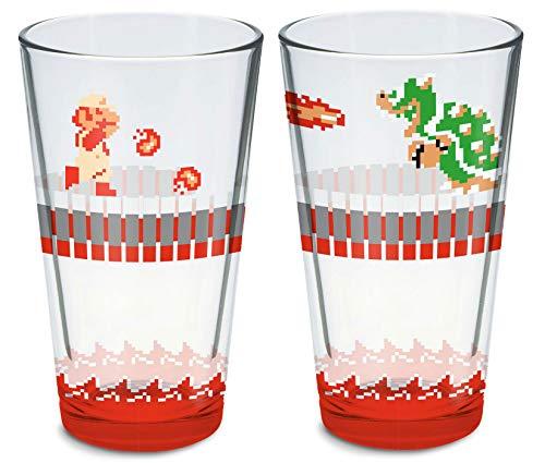 Nintendo Super Mario Bros Glas-Set, 473 ml, 2 Stück