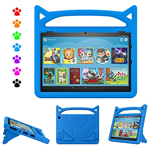 Fire HD 10 Tablet Case,Amazon Fire Tablet 10 Case,Kindle Fire HD 10 2021 Model Case,Dinines Kids Case for All-New Kindle Fire HD 10 & 10 Plus Tablet (11th Generation, 2021 Release)