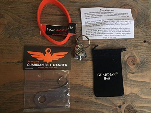 Guardian Bell Celtic Weave Complete Motorcycle KIT W/Hanger & Wristband