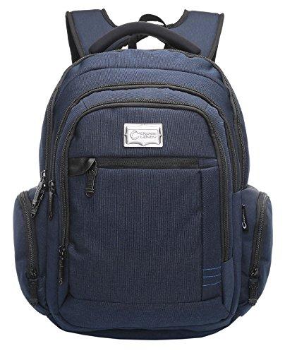 CrossLandy School College Backpack Laptop USB Charging Bookbag Headphone Port Blue