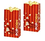 Hoosier Hill Farm Laminated Orange Popcorn Bags, 1.5 oz 50 Bags