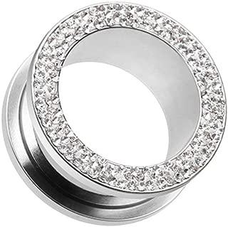 Covet Jewelry Multi-Sprinkle Dot Multi Gem Screw-Fit Ear Gauge Tunnel Plug