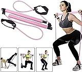 qiuqiu Pilates Ejercicio Stick Pilates Stick Kit Resistencia Al Ejercicio Portátil Banda Body Stick Home Gym Yoga Pilates