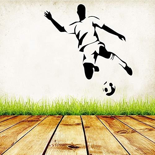 mlpnko Spielen Sie Fußball Wandaufkleber abnehmbare Tapete Schlafzimmer Wohnkultur Schlafzimmer Wohnzimmer Selbstklebende Kunst,CJX10618-39x41cm