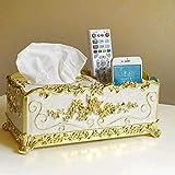 SKYEI Caja de pañuelos para sala de estar, hogar, diseño nórdico, con múltiples funciones, bandeja de papel para servilletas (color: blanco)