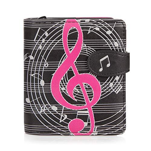 Shagwear ® Portemonnaie Geldbörse Damen Geldbeutel Mädchen Bifold Mehrfarbig Portmonee Designs: (Musical)