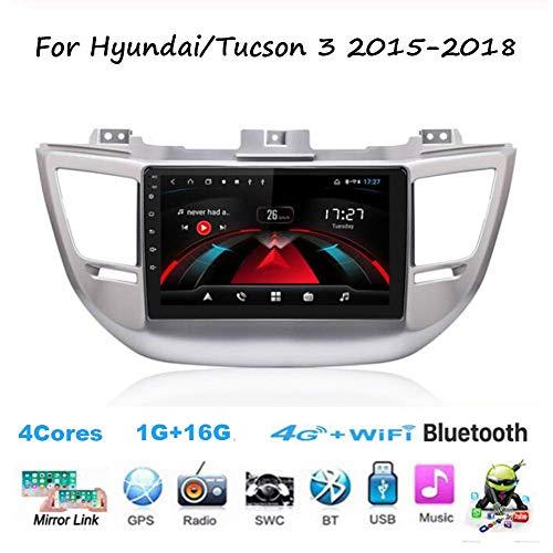 Für Hyundai/Tucson 3 2015-2018 Navi Doppel-Din Auto Stereo Radio GPS Navigation 9 Zoll Touchscreen Head Unit Multimedia Player Videoempfänger WiFi BT SWC