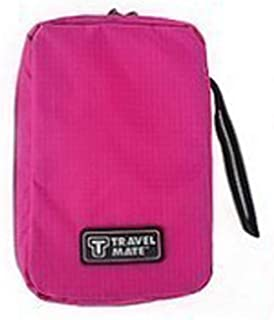 MeterMall Portable Storage Bag with Hanging Hook for Travel Camping Toiletry Cosmetic rose Red