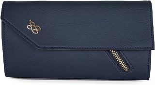Baggit Autumn-Winter 2020 Faux Leather Women's 3 Fold Wallet (Blue) (Rained)