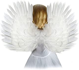 (TM) Small White Feather Angel Wings for kids children