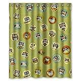 Doubee Haltbarer Owl Wasserdichtes Polyester Duschvorhang Shower Curtain 60