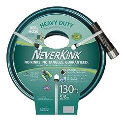 Teknor Apex 100519523 Neverkink 8615-130, Heavy Duty Hose Reel Garden Hose, 5/8-Inch by 130-Feet