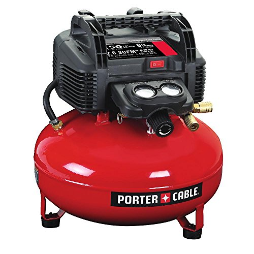 PORTER-CABLE Air Compressor, 6-Gallon, Pancake,...