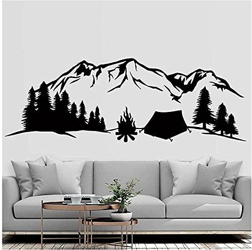 Arte pegatinas de pared y murales naturaleza camping montaña montaña viajes pino árbol montaña aventura 164x57cm